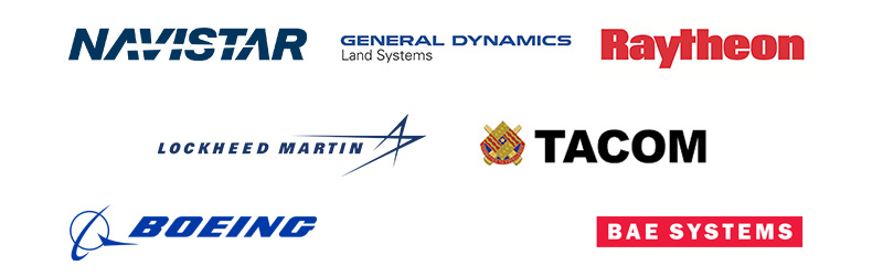 MERRILL Defense: Navistar, General Dynamics, Raytheon, Lockheed Martin, TACOM, Boeing, BAE Systems